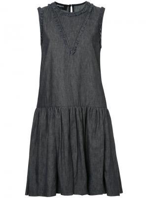 Джинсовое платье без рукавов Rochas. Цвет: синий