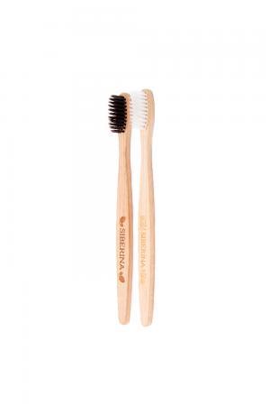 Комплект бамбуковых зубных щеток SIBERINA