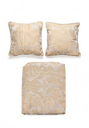 Комплект 2 подушки декоративные и 1 покрывало Togas. Цвет: серый