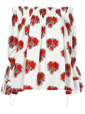 Блузка с принтом Alexander McQueen. Цвет: белый
