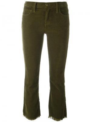 Укороченные вельветовые брюки  Kick Current/Elliott. Цвет: зелёный