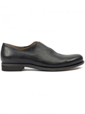 Ботинки Дерби из верблюжьей кожи Cherevichkiotvichki. Цвет: чёрный