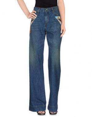 Джинсовые брюки SANDRINE ROSE. Цвет: синий