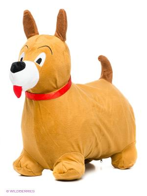 Собачка-попрыгунчик Наша Игрушка. Цвет: бежевый