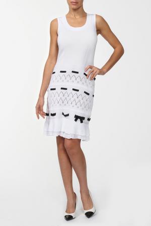 Платье Luisa Spagnoli. Цвет: белый