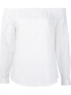 Топ с открытыми плечами Rag & Bone. Цвет: белый