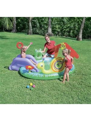 Бассейн с игрушками и шариками 211х155х81см от 2-х лет Bestway. Цвет: зеленый, красный, сиреневый