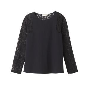 Блузка однотонная с круглым вырезом, длинными рукавами SEE U SOON. Цвет: черный
