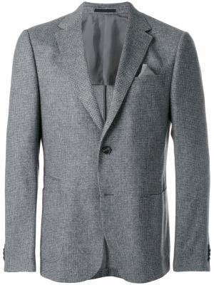 Пиджак с застежкой на две пуговицы Z Zegna. Цвет: серый