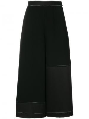 Кюлоты со складками Loewe. Цвет: чёрный