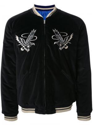 Двухсторонняя бархатная куртка Gold. Цвет: чёрный