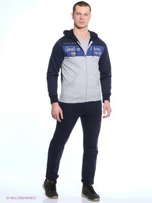Спортивный костюм CMP. Цвет: темно-синий, светло-серый