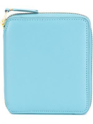 Кошелек с круговой застежкой-молнией Colour Plain Comme Des Garçons Wallet. Цвет: синий