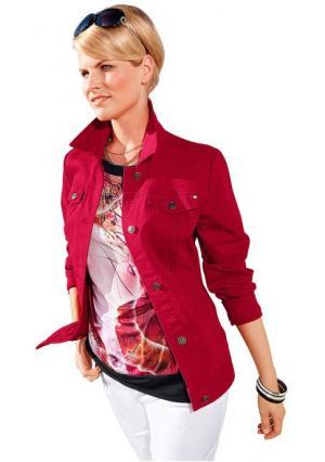 Джинсовая куртка. Цвет: красный