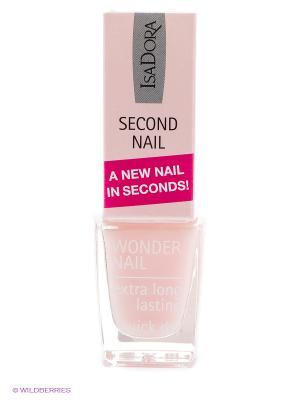 Средство по уходу за ногтямиWonder Nail Second 696, 6мл ISADORA. Цвет: бледно-розовый
