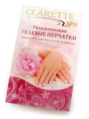 Увлажняющие гелевые перчатки. CLARETTE. Цвет: розовый