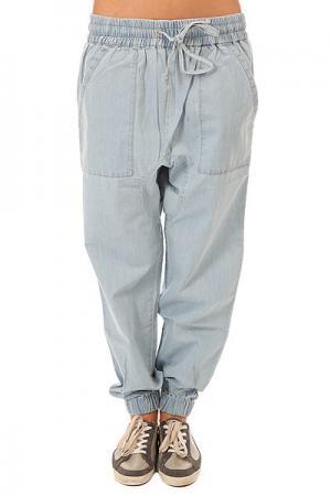 Штаны широкие женские  Wellness Denim Picture Organic. Цвет: голубой