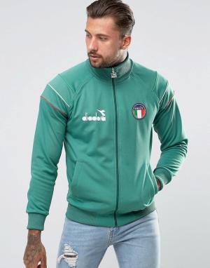 Diadora Спортивная куртка с логотипом Italia. Цвет: зеленый