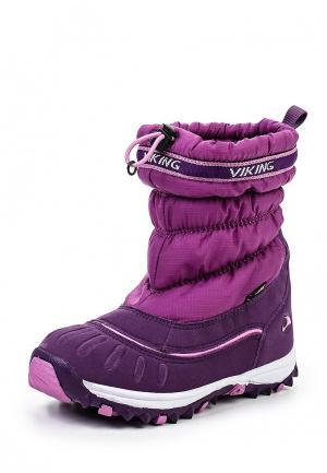 Сапоги Viking. Цвет: фиолетовый
