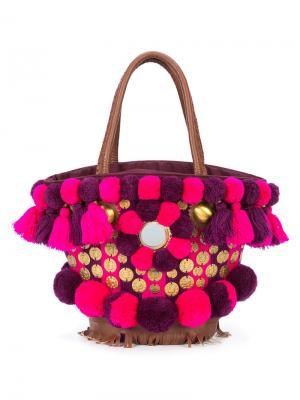 Сумка Imani Samui Mini Tuk Figue. Цвет: розовый и фиолетовый