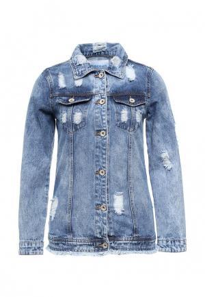 Куртка джинсовая Imocean. Цвет: синий