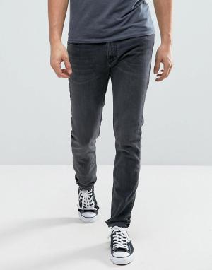 Hollister Выбеленные серые супероблегающие джинсы стретч. Цвет: серый