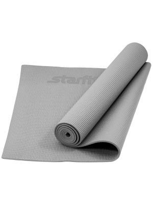 Коврик для йоги STARFIT FM-101 PVC 173x61x0,5 см, серый. Цвет: серый