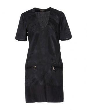 Короткое платье ALVIERO MARTINI 1a CLASSE. Цвет: грифельно-синий