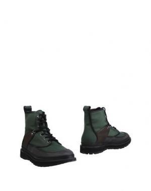 Полусапоги и высокие ботинки UMIT BENAN. Цвет: зеленый