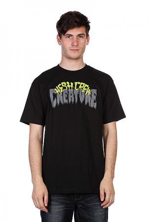 Майка  Hesh Crew Black Creature. Цвет: черный