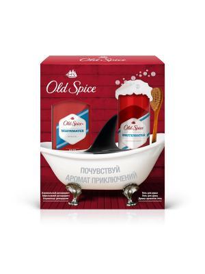 Подарочный набор Whitewater (аэрозольный дезодорант, 125мл + гель для душа, 250мл) OLD SPICE. Цвет: красный