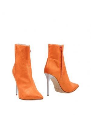 Полусапоги и высокие ботинки LUCA VALENTINI. Цвет: оранжевый