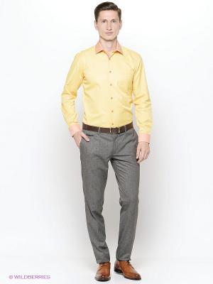 Рубашка Hans Grubber. Цвет: желтый