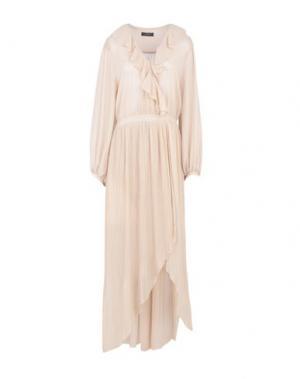Длинное платье SOALLURE. Цвет: бежевый