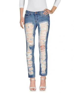Джинсовые брюки AISHHA. Цвет: синий