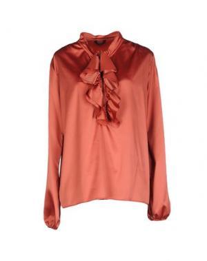 Блузка AGLINI. Цвет: ржаво-коричневый