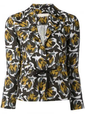 Приталенный пиджак с абстрактным принтом LAutre Chose L'Autre. Цвет: зелёный