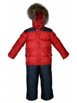 Комплект (куртка, полукомбинезон) BORELLI. Цвет: красный