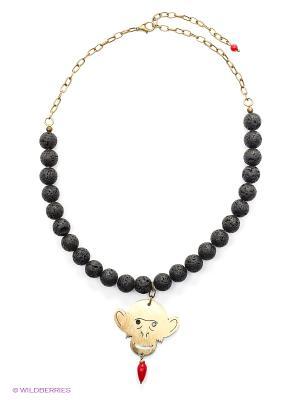 Ожерелье PS by Polina Selezneva. Цвет: золотистый, красный, черный