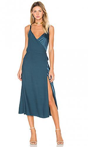 Платье las palmas LACAUSA. Цвет: сине-зеленый