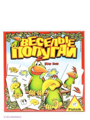 Веселые попугаи Piatnik. Цвет: красный