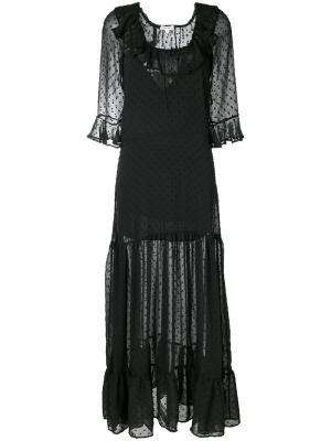 Long sheer dress For Love And Lemons. Цвет: чёрный