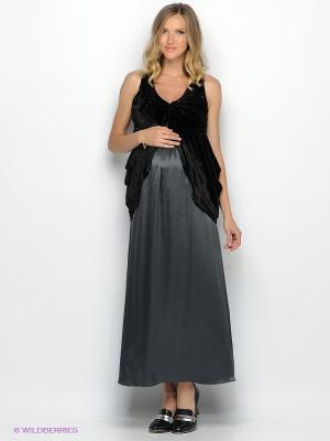 Платье UNIOSTAR. Цвет: черный, темно-серый