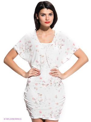 Платье FRACOMINA. Цвет: белый