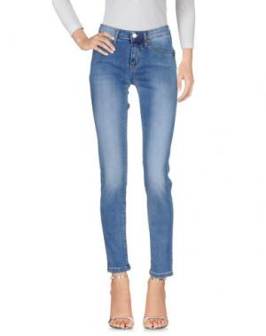 Джинсовые брюки J-CUBE. Цвет: синий