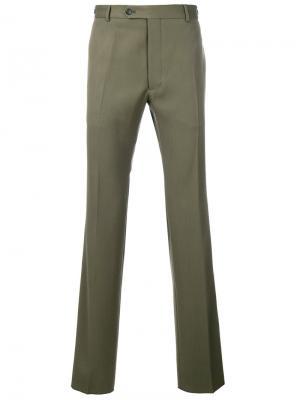 Классические брюки с лампасами Valentino. Цвет: зелёный