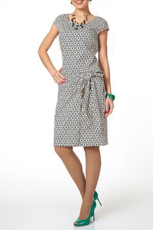 Платье Argent. Цвет: молочный, черный