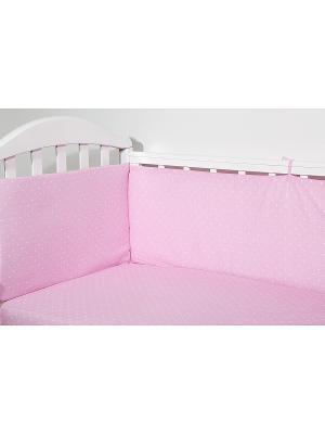 Бортик для кроватки СПОКИ НОКИ. Цвет: розовый