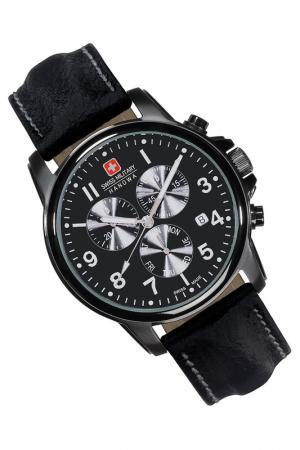 Наручные часы Swiss military. Цвет: black