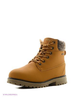 Ботинки STROBBS. Цвет: желтый